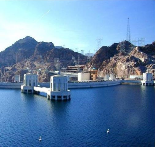 Hoover Dam, Lake Mead in 2000 Full